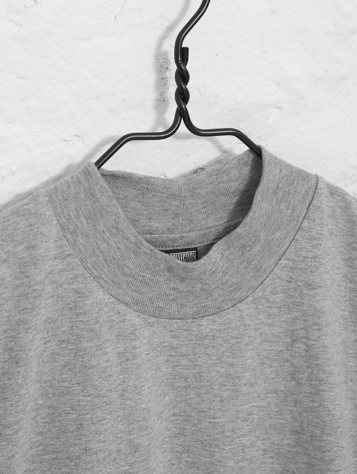 6026713d7668 High-neck T-shirt light melange grey | R-Collection