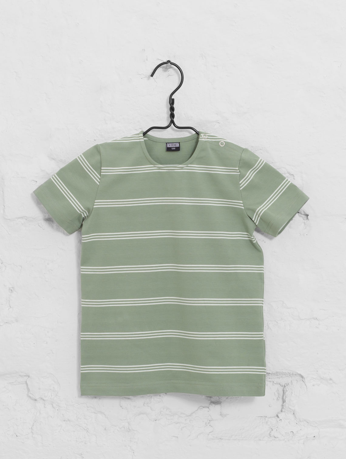 e98d0219cdcf Mini Striped T-Shirt fog green   white stripe
