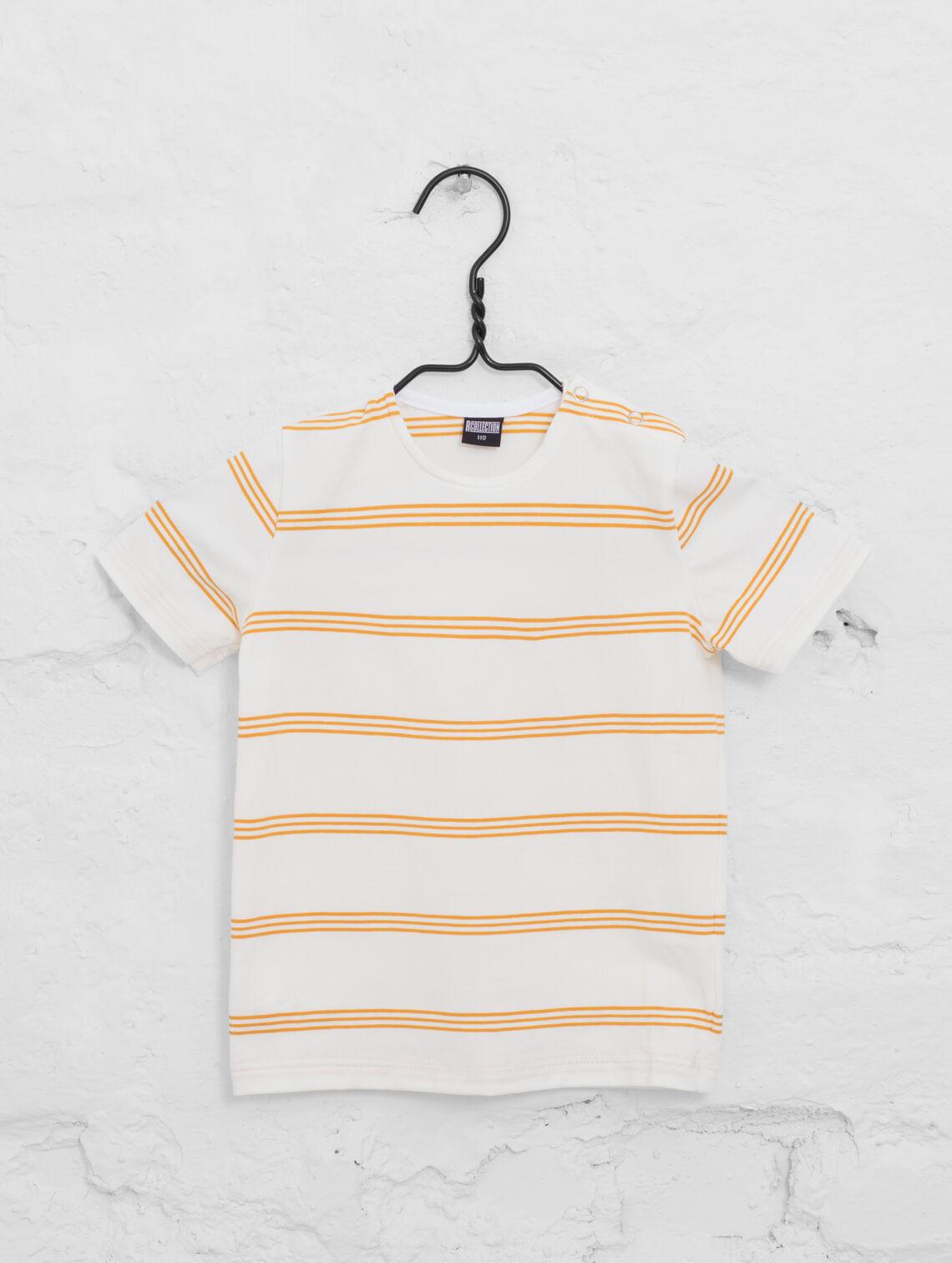 e7f9c4526d92 Mini Striped T-Shirt tangerine white stripe
