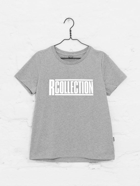 Women's T-Shirt light melange grey / white logo