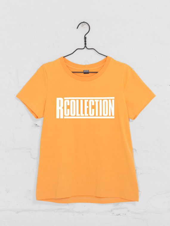 Women's T-Shirt tangerine / white R-Collection