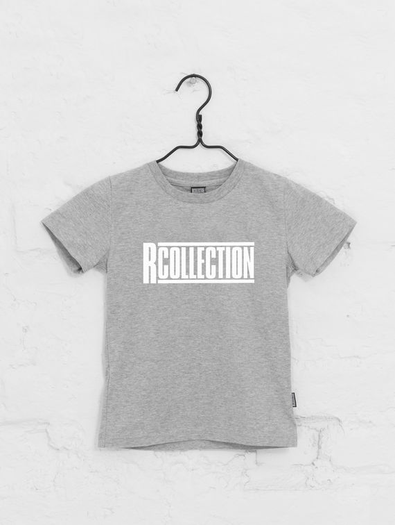 Children's T-Shirt light melange grey / white R-Collection