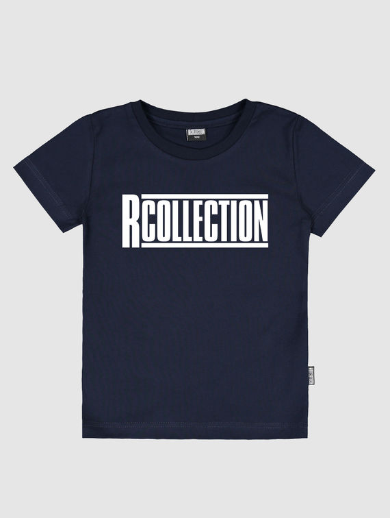 Children's Classic T-Shirt dark blue / white R-Collection