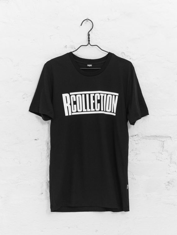 Slim Logo T-Shirt black shirt with white logo