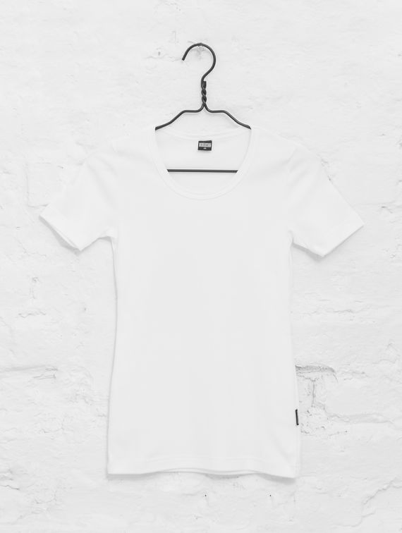 Women's Elastic T-Shirt white