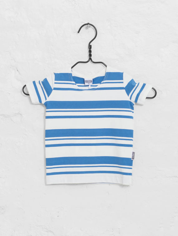 R-Collection      Mini Striped T-Shirt white/provence blue stripe