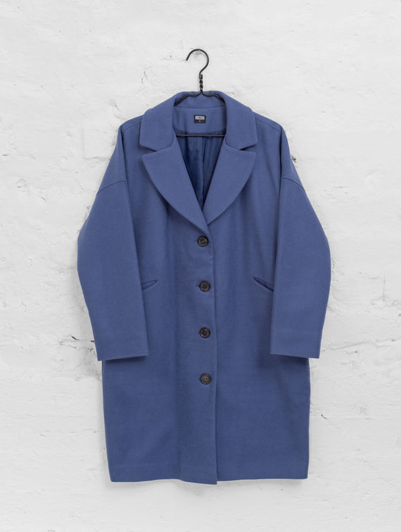 Hellevi Coat indigo blue