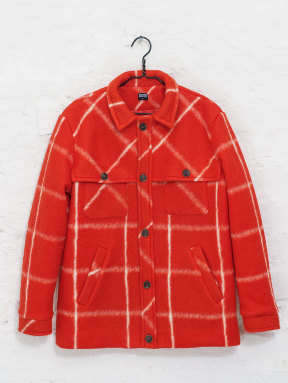 Eric Coat red/white check
