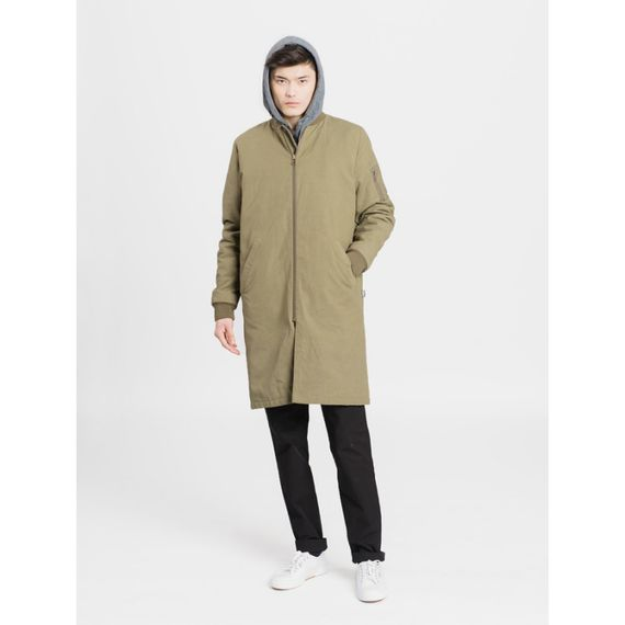 Long Bomber Jacket olive