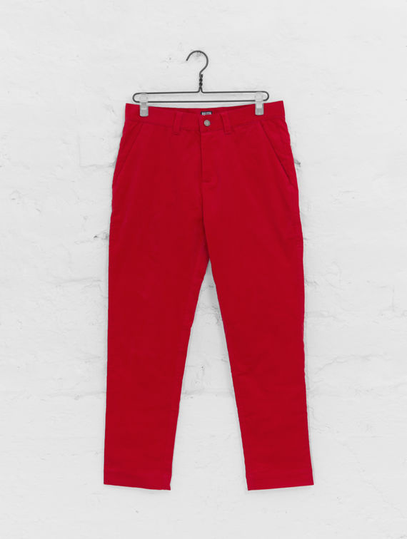 Corduroy Pants red