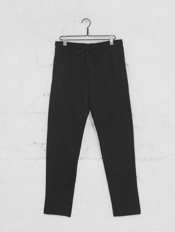Straight-Cut Slim Sweatpants black