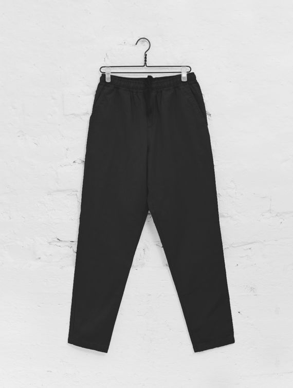 Straight-Cut Anorak Pants black