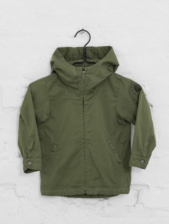 Children's Zipper Anorak moss green