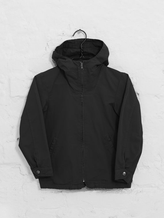 Children's Zipper Anorak black