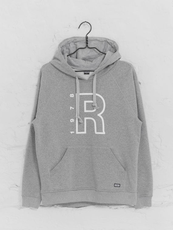 Hoodie light melange grey / white R