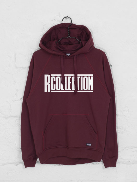 R-Collection Classic Hoodie white logo