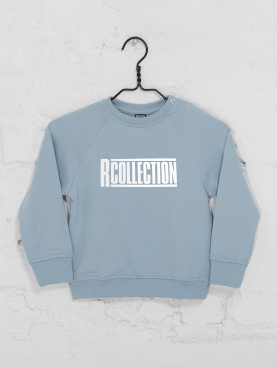 Children's Mini Sweatshirt celestial blue / white R-Collection