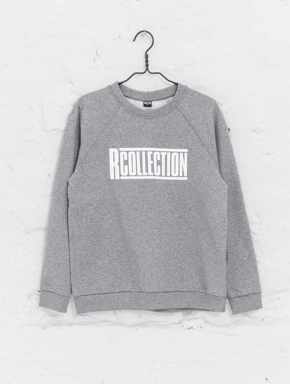 Women's Sweatshirt light melange grey shirt with white logo