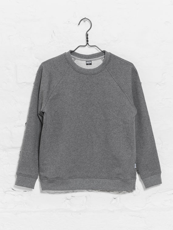 Women's Sweatshirt dark melange grey