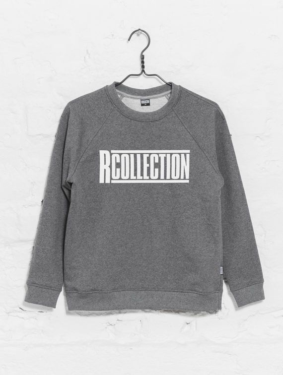 Women's Sweatshirt dark melange grey with logo