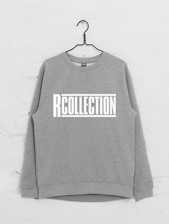 Classic Sweatshirt light melange grey with logo