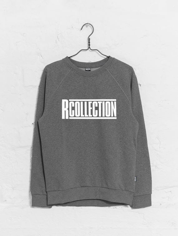 Classic Sweatshirt dark melange grey / white R-Collection