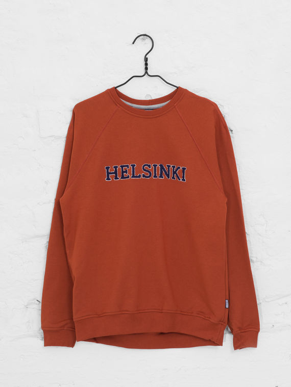 City Sweatshirt brick / dark blue Helsinki