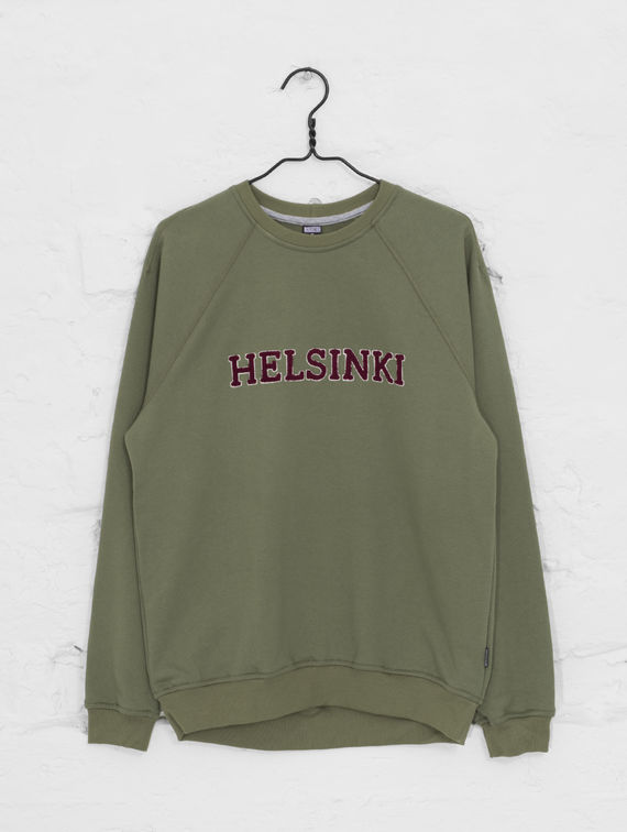 City Sweatshirt moss green / wine red Helsinki