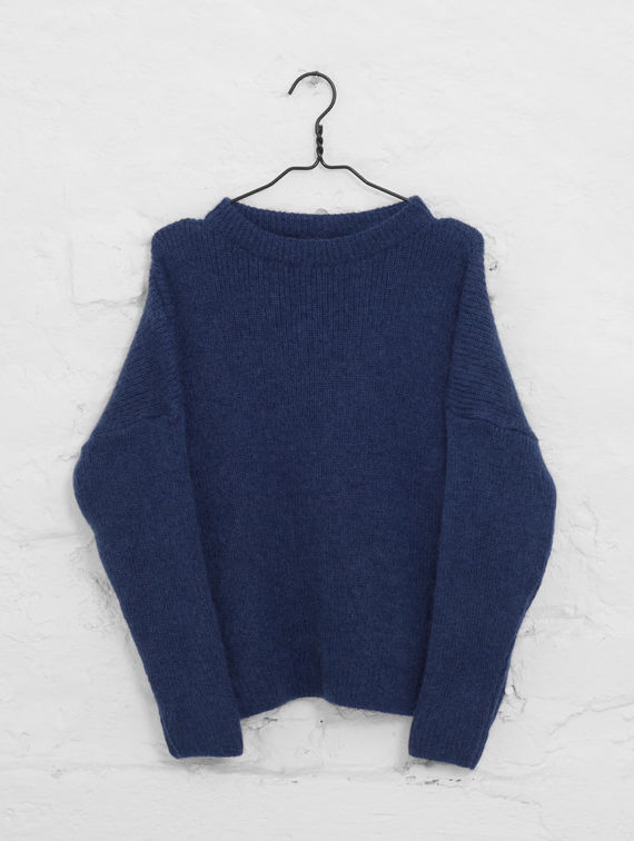 Mohair Knit ink blue
