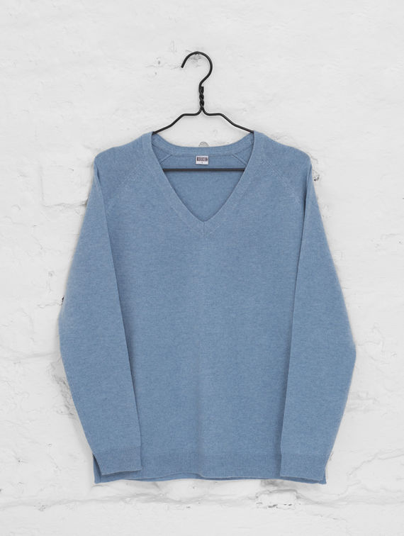 Wool Cashmere Sweater celestial blue