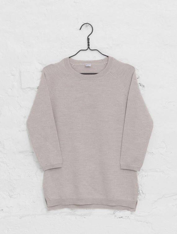 R-Collection      Women's Merino Sweater sand