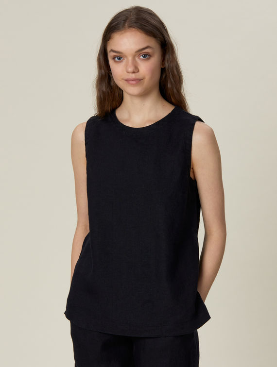 R-Collection Moona Linen Top