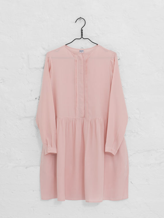 Eliisa Silk Dress misty rose