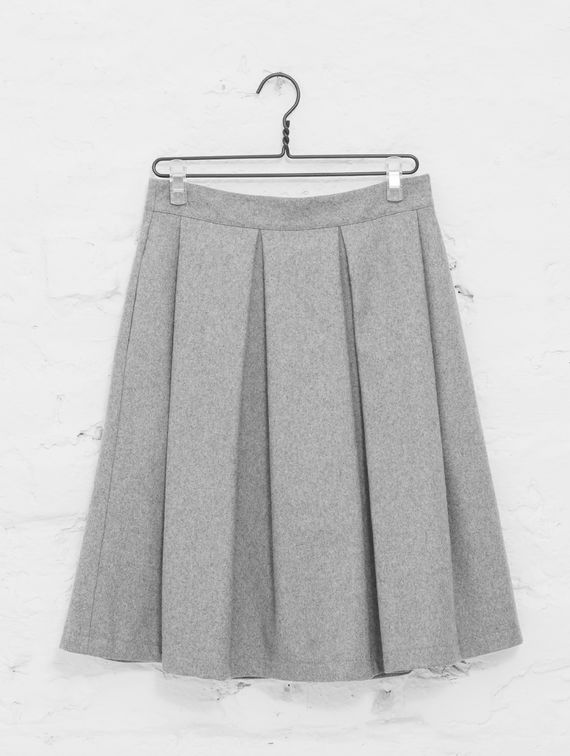 Aino Skirt light melange grey