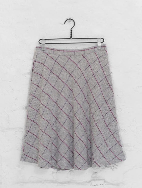Seela Skirt grey/plum check