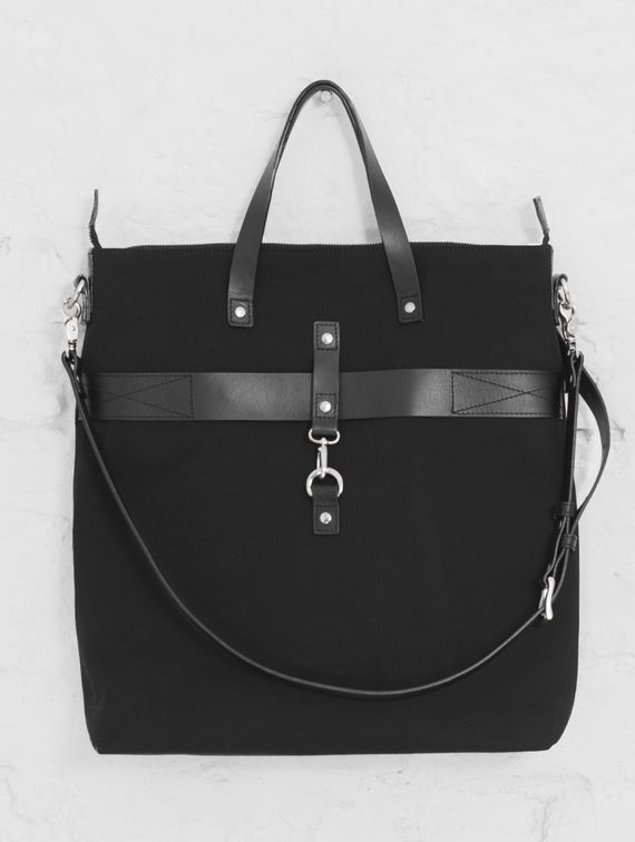 Traveller Canvas Bag black/silver