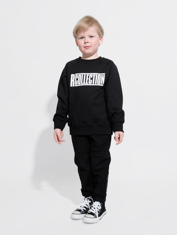 Children's Sweatshirt black / white logo