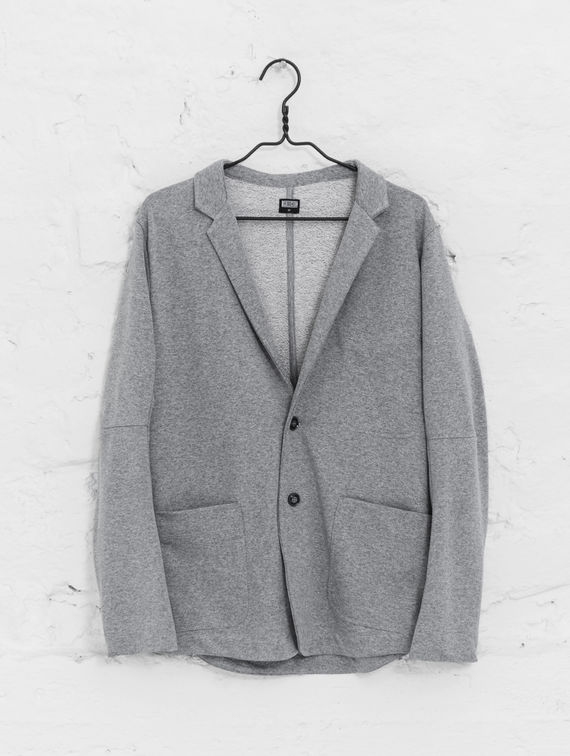 College Blazer light melange grey