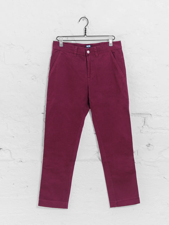 Chino Trousers beet red