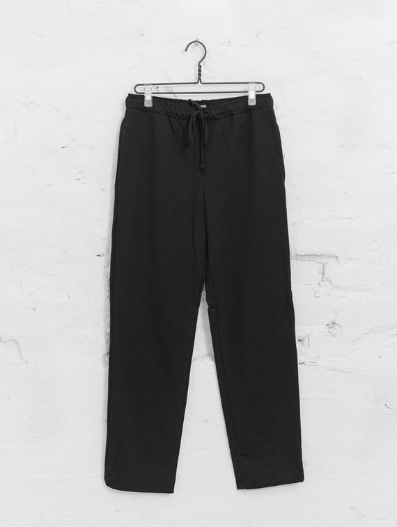 Straight Cut Sweatpants black