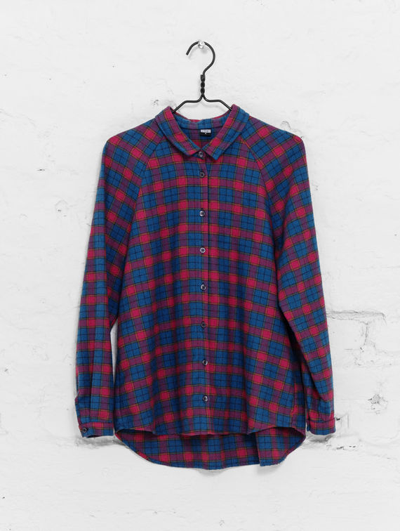 Women´s Flannel Shirt green/red check