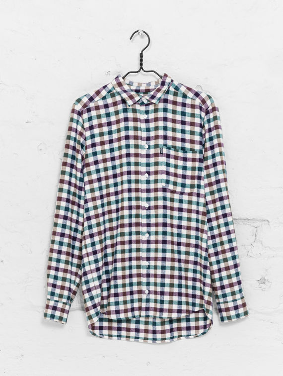 Flannel Shirt white/violet check