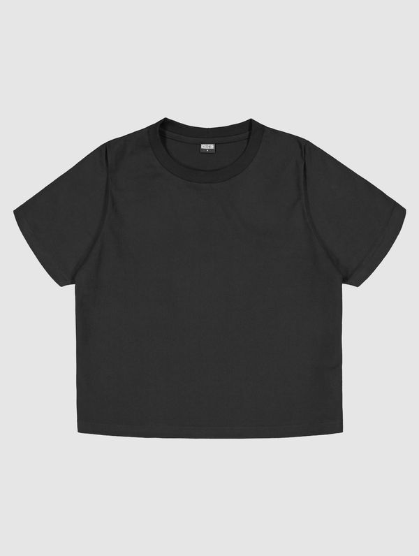 Cropped T-Shirt black