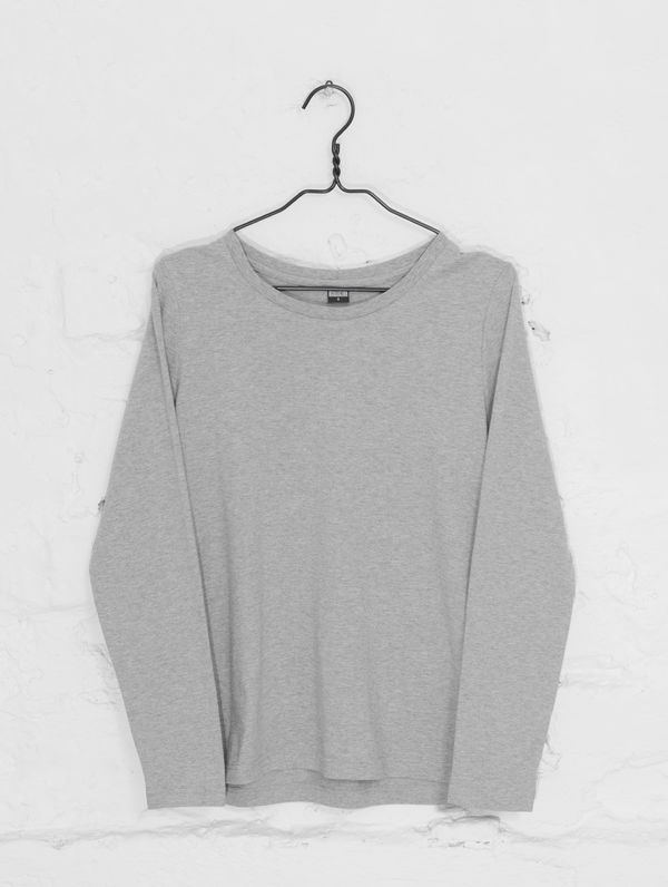Women's Long-Sleeved T-Shirt light grey melange
