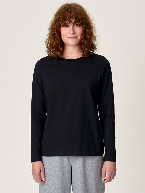 Women's Long-Sleeved T-Shirt black