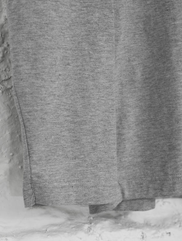 Turtleneck Long-Sleeved T-Shirt light melange grey