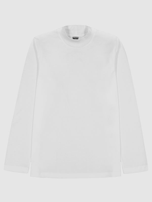 Turtleneck Long-Sleeved T-Shirt white
