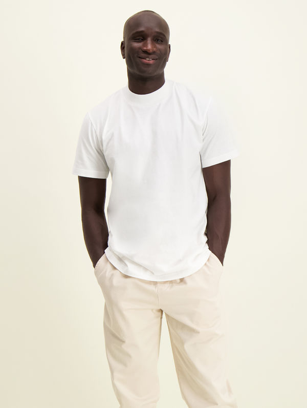 Turtleneck T-Shirt white