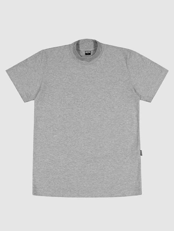 Turtleneck T-Shirt light melange grey