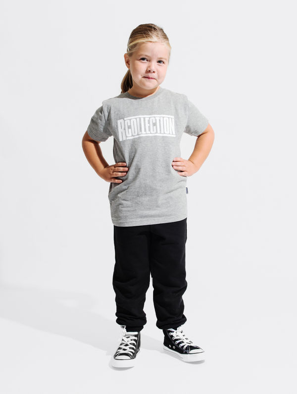 Children's T-Shirt light grey melange / white R-Collection
